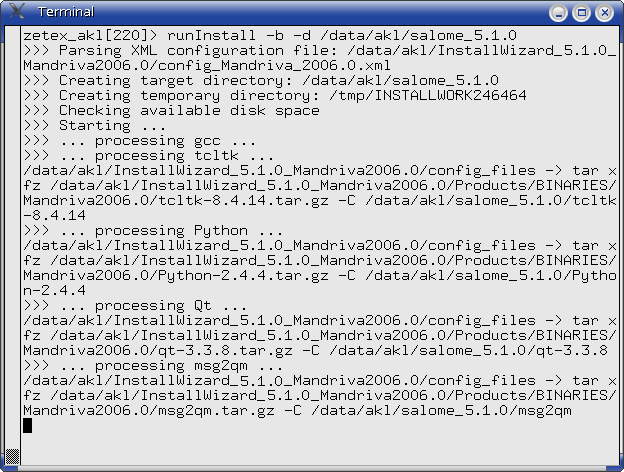 SALOME GUI User's Guide: SALOME Installation Wizard Help